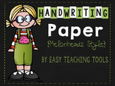 Handwriting Paper {Melonheadz Kidlettes Style}