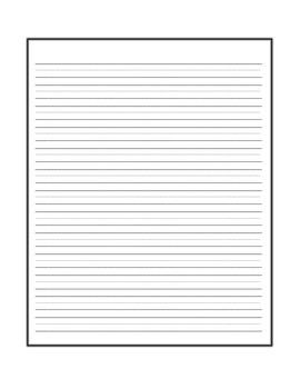 Handwriting Paper Sampler - 4 Types