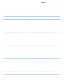 Handwriting Paper Template (Color and Black/White)