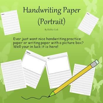 Handwriting Paper (Portrait) Bundle