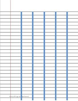 Handwriting Paper for Spacing between Words