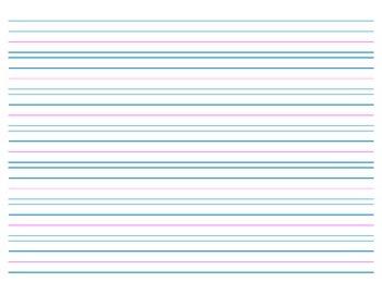 Handwriting Paper, no Header - 7 rows - Landscape