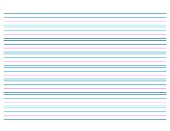 Handwriting Paper, no Header - 8 rows - Landscape