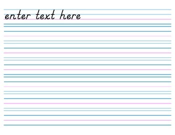 Handwriting Paper, no Header (Electronic Form) - 7 rows
