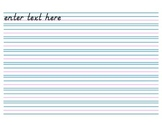 Handwriting Paper, no Header (Electronic Form) - 8 rows
