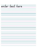 Handwriting Paper, no Header (Electronic Form) - 9 rows