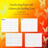 Handwriting Paper with 2 Columns (Landscape - Spelling) Bundle