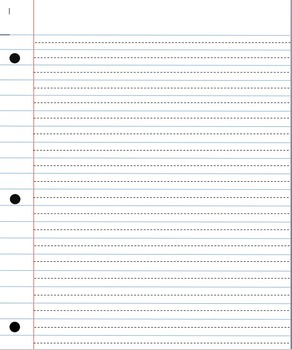 Handwriting Paper with Dotted Mid Line for Older Students   TpT