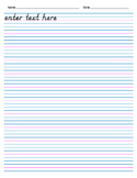 Handwriting Paper, with Header (Electronic Form) - 12 rows
