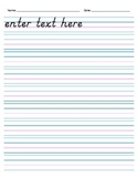 Handwriting Paper, with Header (Electronic Form) - 9 rows