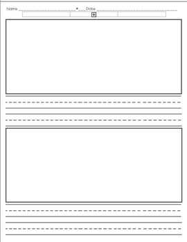 Handwriting Paper with Large Lines
