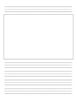 Handwriting Paper with Picture Box