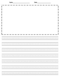 Handwriting Paper with Picture Box and Options