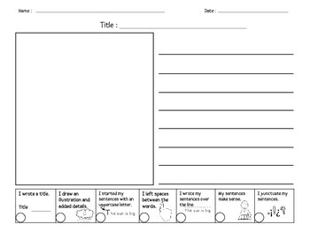 Handwriting Paper with Self-Check Rubrics PK-2