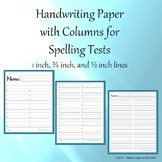 Handwriting Paper with 2 Columns (Portrait - Spelling) Bundle