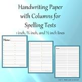 Handwriting Paper with 2 Columns (Portrait - Spelling) Bundle