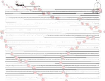 Handwriting Papers ( ladybugs themed )