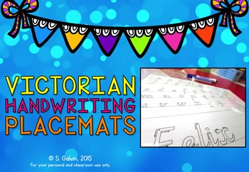 Handwriting - Placemats for Victorian Classrooms