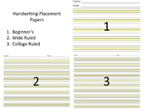 Handwriting Placement Papers (Highlight, Highlights, Highl