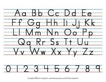 Handwriting Posters - Letters and Numbers