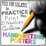 Handwriting Posters - Print, D'Nealian, and Cursive