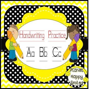 Handwriting Practice ~ plus EDITABLE certificate