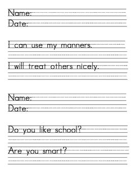 Handwriting Practice #1