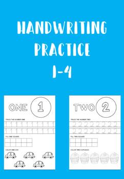 handwriting practice 1 4 by bianca mattos teachers pay teachers. Black Bedroom Furniture Sets. Home Design Ideas