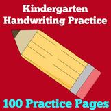 Kindergarten Handwriting Practice | Worksheets
