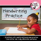 Handwriting Practice Worksheets for Primary