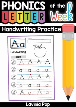 Alphabet Handwriting Practice: Upper and Lower Case Letters