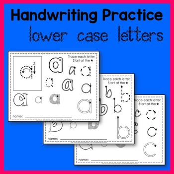 Lower Case Letter Tracing