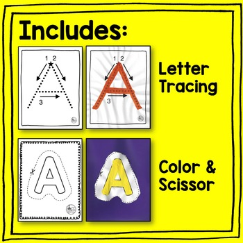 Upper Case Letter Handwriting Activities