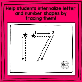 Letter and Number Tracing Bundle