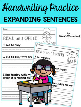 First Grade Handwriting Practice: Expanding Simple Sentences