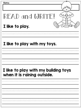 first grade handwriting practice expanding simple sentences tpt. Black Bedroom Furniture Sets. Home Design Ideas