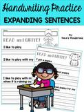 Handwriting Practice for 1st Grade: Expanding Simple Sentences