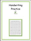 First Grade Handwriting Practice