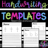 Handwriting Practice Templates Upper & Lowercase letters