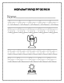 handwriting practice by brooke mcandrew teachers pay teachers. Black Bedroom Furniture Sets. Home Design Ideas