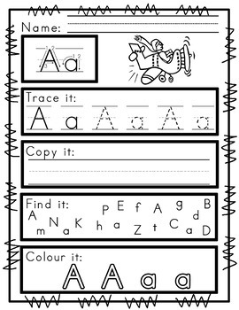 Worksheets for Zaner Bloser Handwriting Practice