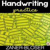 Handwriting Practice A-Z NO PREP Print and Go Zaner-Bloser