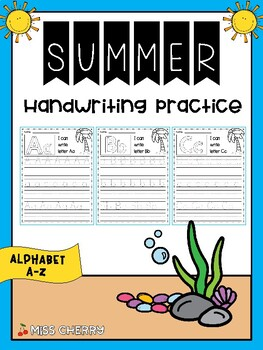 Handwriting Practice A-Z (Summer)