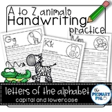Handwriting Practice: A to Z Animals