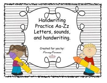 Handwriting Practice Aa-Zz
