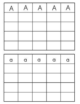 Handwriting Practice Aa to Zz