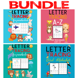 Handwriting Practice Alphabet Tracing Letters A-Z and Word Tracing Bundle