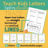 Handwriting Practice - Alphabet Upper Case ABC Letters with STRAIGHT Lines Only