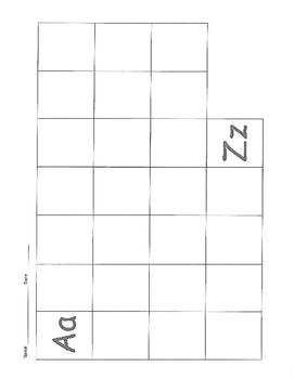 Handwriting Practice / Assessment Grid for 26 letters