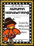 Handwriting Practice - Autumn Edition